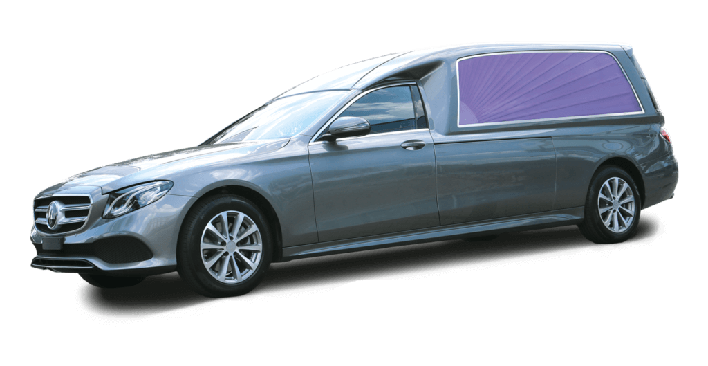 Hybrid funeral car on basis Mercedes-Benz E-Class